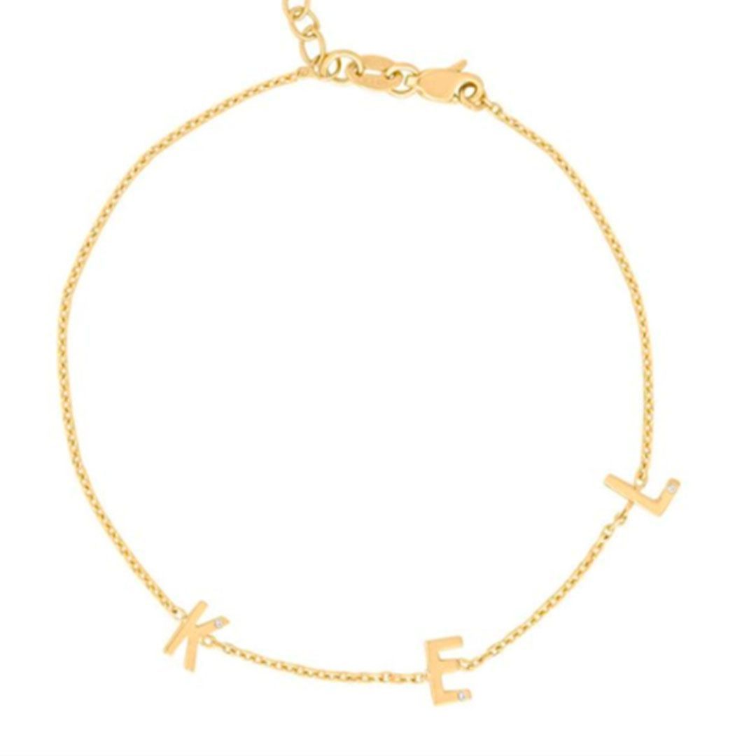 stephanie gottlieb mini initial bracelet