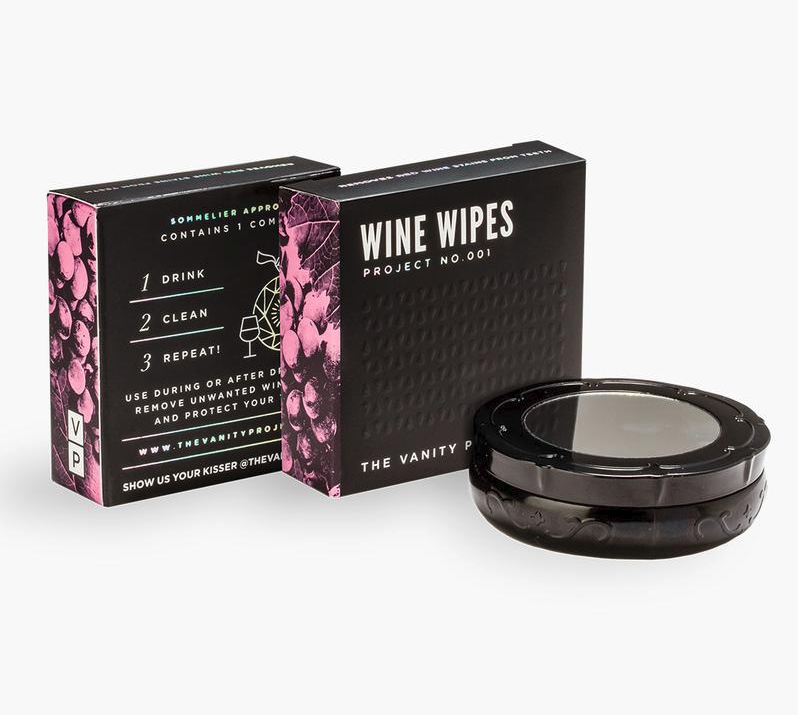 wine wipes by vanity project